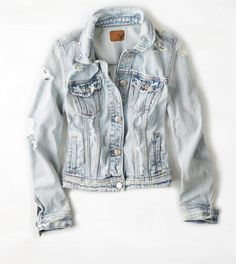 AEO Bleached Denim Jacket