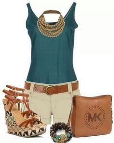 Cute outfit. Maybe I'll have small enough thighs to wear shorts next summer.  Love the Michael Kors bag.