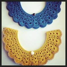 New crochet collars from the #lululoves pattern #crochet #peterpancollar #handmade