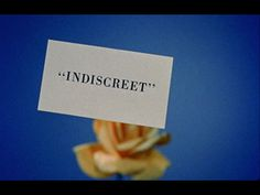 Indiscreet (1958) movie typography