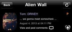 Tom: Motorista  nos vamos em algum lugar