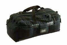 Texsport Canvas Tactical Bag (Black) - tough, cheap bag option, grab and go convenience of a duffel, but has back pack shoulder straps for longer hauls.
