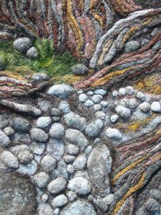 Felted 3D landscape...Andrea Graham