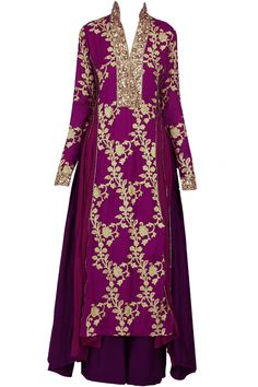 If the golf was duller. Mulberry asymmetrical embroidered pakistani kurta set available only at Pernia's Pop-Up Shop.