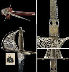 """A beautiful left hand dagger from the property of """" Enrico Tamberlick"""" (Rome, March 16 1820 - Paris, March 13 1889) debuted in 1837 as Arnoldo in the Guglielmo Tell by Rossini, in 1850 at Royal Opera House at the Covent Garden in London, in 1857 he sang at Teatro Colon in Buenos Aires, in 1873/74 in New York."""