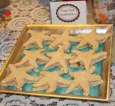 Starfish Shaped Tuna Fish Sandwiches