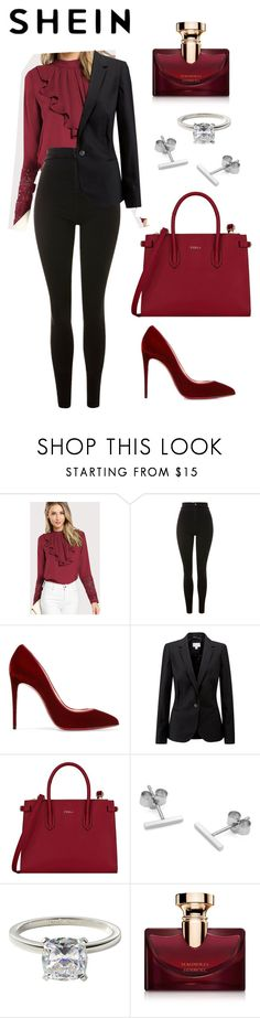 """""""SHEIN♡️MY STYLE ®♡️"""" by bts97kookie ❤ liked on Polyvore featuring Topshop, Christian Louboutin, Pure Collection, Furla, Myia Bonner, James Allen and Bulgari"""