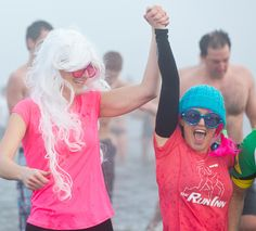 Hundreds of hearty souls started the new year Jan. 1 with a frosty dip in Boundary Bay at the Annual Polar Bear Swim. The event included entertainment, stilt walkers and activities for the kids. The 33, Jan 1, Polar Bear, Dips, Swimming, Entertainment, Activities, Swim, Sauces
