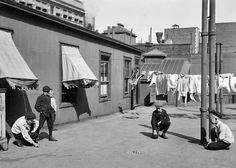 Vivir en un rascacielos. Nueva York, 1910. George Grantham Bain, Libreria del Congreso