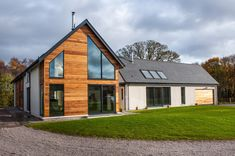 Description to be placed here, this will appear below image and below title Clare House, Cedar Cladding, Slate Roof, Cinema Room, Small Buildings, Contemporary Design, Building A House, House Plans, Shed
