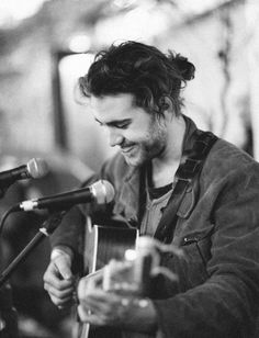 This guy who has a man bun and plays the guitar | 20 Man Buns That Will Ruin You For Short-Haired Guys