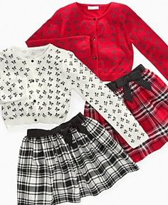 "Bonnie Jean ""Little Girls Cardigan and Skirt Set"", Macys"