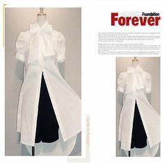Ladies retro princess short-sleeve blouse LS312 PLUSsize 1X2X3X4X5X (size16-32)