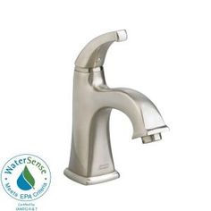 Town Square Monoblock Single Hole 1-Handle Bathroom Faucet in Satin Nickel-2555.101.295 at The Home Depot $172