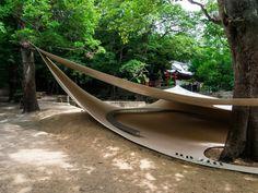 Fukita Pavillon in Japan  L'architecte japonais Ryue Nishizawa a imaginé dans une zone résidentielle à Kagawa une structure extérieure pen...