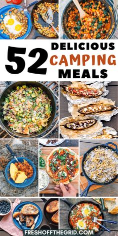 If you're planning a camping trip this summer, you have to check out this list of camping food ideas! Planning your camping menu will be a snap with this round up of delicious camping meals including Camping Ideas, Camping Food Make Ahead, Camping Menu, Camping Lunches, Camping Breakfast, Backpacking Food, Camping With Kids, Family Camping, Family Meals