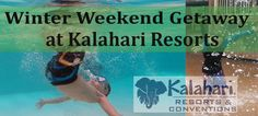 Bring Summer to Your Winter with a Winter Weekend Getaway at Kalahari Resorts Indoor Waterparks. Best way to escape the winter blues.