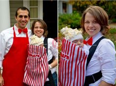 Simple Creative DIY Kids Costume Project   Popcorn Baby.. I want to do this!!