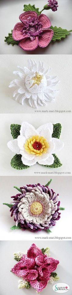 вязаные цветы | Записи в рубрике вязаные цветы | Дневник домоправительницы