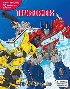 Hasbro Transformers My Busy Book Board book – Sep 1 2017 Date, My Busy Books, Rescue Bots, Hasbro Transformers, Son Love, Action Figures, Ebooks, This Book, Activities