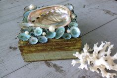 Seashell Florentine Box/Vintage Italian Florentine~ by My Honeypickles