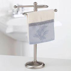 Kennedy Fingertip Guest Towel Holder In Satin Nickel - Beyond the Rack