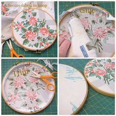 Embroidery hoop art. HOW TO