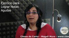 Clases de Canto Magali Muro Ejercicio para lograr agudos y como afinar l...