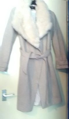 Ex chainstore ladies size 10 winter coat with fur collar in Clothes, Shoes & Accessories, Women's Clothing, Coats & Jackets | eBay!