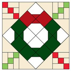 BOW TIE WREATH FREE Quilt Block Pattern designed by ABIGAIL DOLINGER: This festive patchwork quilt block finishes at square. Make several and set them together to create a wonderful Christmas wall quilt! Quilt Square Patterns, Easy Quilt Patterns, Pattern Blocks, Square Quilt, Hanging Quilts, Tie Quilt, Easy Quilts, Quilt Blocks, Christmas