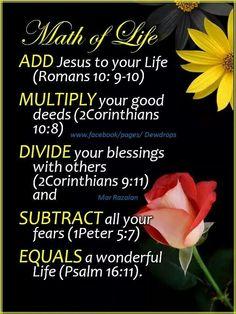 Math for Life.   mwordsandthechristianwoman.com