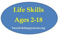 Pinterest Pin of the Week: Life Skills Ages 2-18