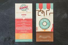 The Donut Experiment Identity Branding & Menu   Shari Margolin Design Co.