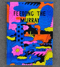 Feeding The Murray. Risograph comic by Jim Stoten.
