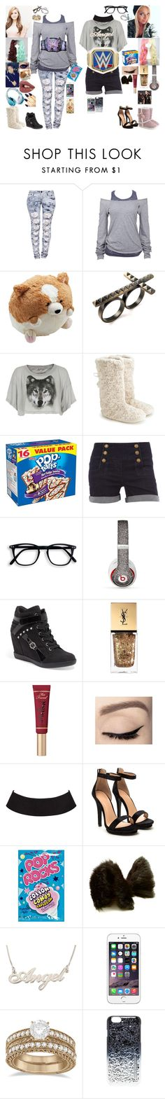 """""""Backstage watching Dean and Baron VS Randy and Brady Wyatt"""" by keeliewatsonoffical on Polyvore featuring Dollhouse, Boohoo, Soul Cal, Alex and Chloe, Wildfox, Monsoon, WWE, Dorothy Perkins, Beats by Dr. Dre and GUESS"""