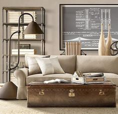 Modern interior decorating with trunks and chests creates beautiful rooms with a touch of vintage style