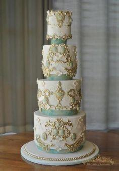 Wedding Cake: The Duchess TM by Sumaiya Omar - The Cake Duchess SA - http://cakesdecor.com/cakes/223576-wedding-cake-the-duchess-tm