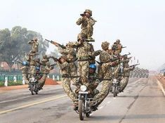 Indian Border Security Force Daredevils during Republic Day Parade in India 2015 [470x350]