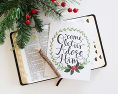 O Come let us Adore Him (free printable)