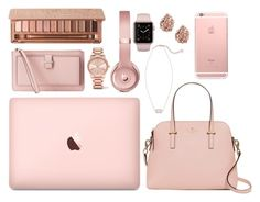 """""""Rose gold"""" by gracerickman on Polyvore featuring Kate Spade, Michael Kors and Urban Decay"""