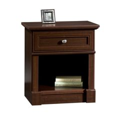 Sauder Palladia Night Stand - http://www.furniturendecor.com/sauder-palladia-night-stand-select-cherry-finish/ - Related searches: Bedroom Furniture, Furniture, Home and Kitchen, Nightstands