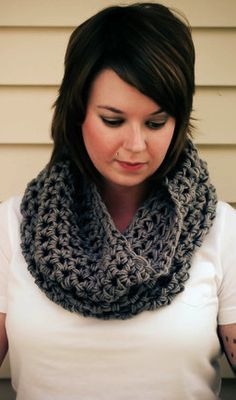 Crochet scarf http://@Patricia Smith Smith Smith K. Hatley I don't see a tut or pattern but this is cute.