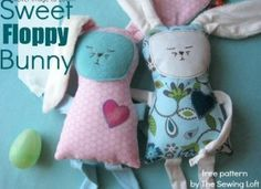 floppy bunny plushie tutorial | easy Spring sewing projects #easter #sewingcrafts