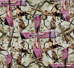 Pink camo crosses
