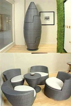 Cool furniture & sculpture hybrid mixed into one!!