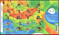 15 04FO Brazil 2015 Olympic Paralympic Games Rio 2016 The design of the stamps, attempts to capture the most characteristic movements of each sport.