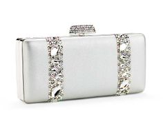 068d3ad5ff6 JIMMY CRYSTAL MAISON SWAROVSKI CRYSTAL CLUTCH BAG SILVER  210-AUTHORIZED  RETAILER-AUTHENTIC JIMMY CRYSTAL NEW-SPECIAL PROMOTION PRICE