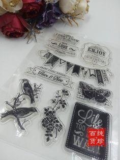 透明硅胶印章 复古图案 DIY/相册/手帐/日记/照片集等配合使用-淘宝网