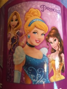 Disney Princess Soft Fleece Throw Blanket 120cmx140c Cinderella, Belle Rapunzel  | eBay