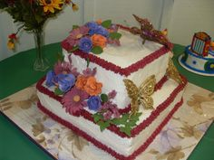 Birthday Cake For 90 Year Old Who Loves Butterflies